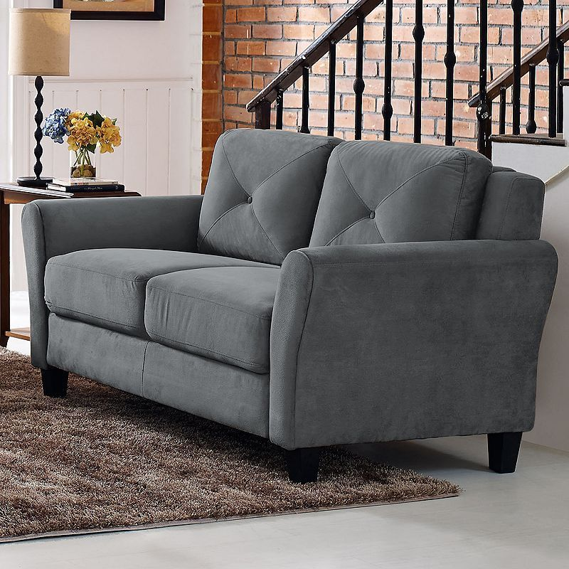 Lifestyle Solutions Hardy Rolled Arm Loveseat Sofa Products