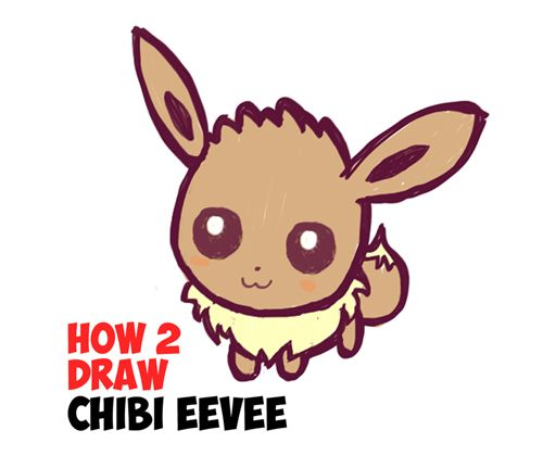 how to draw super cute pokemon