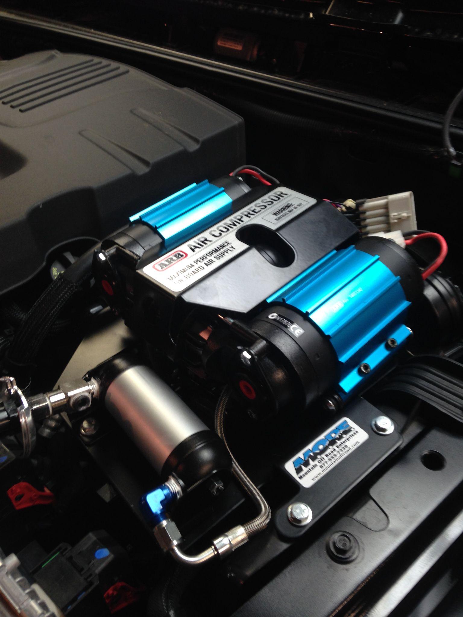 ARB Dual Air Compressor installed 2014 JK Rubicon Jeep jk