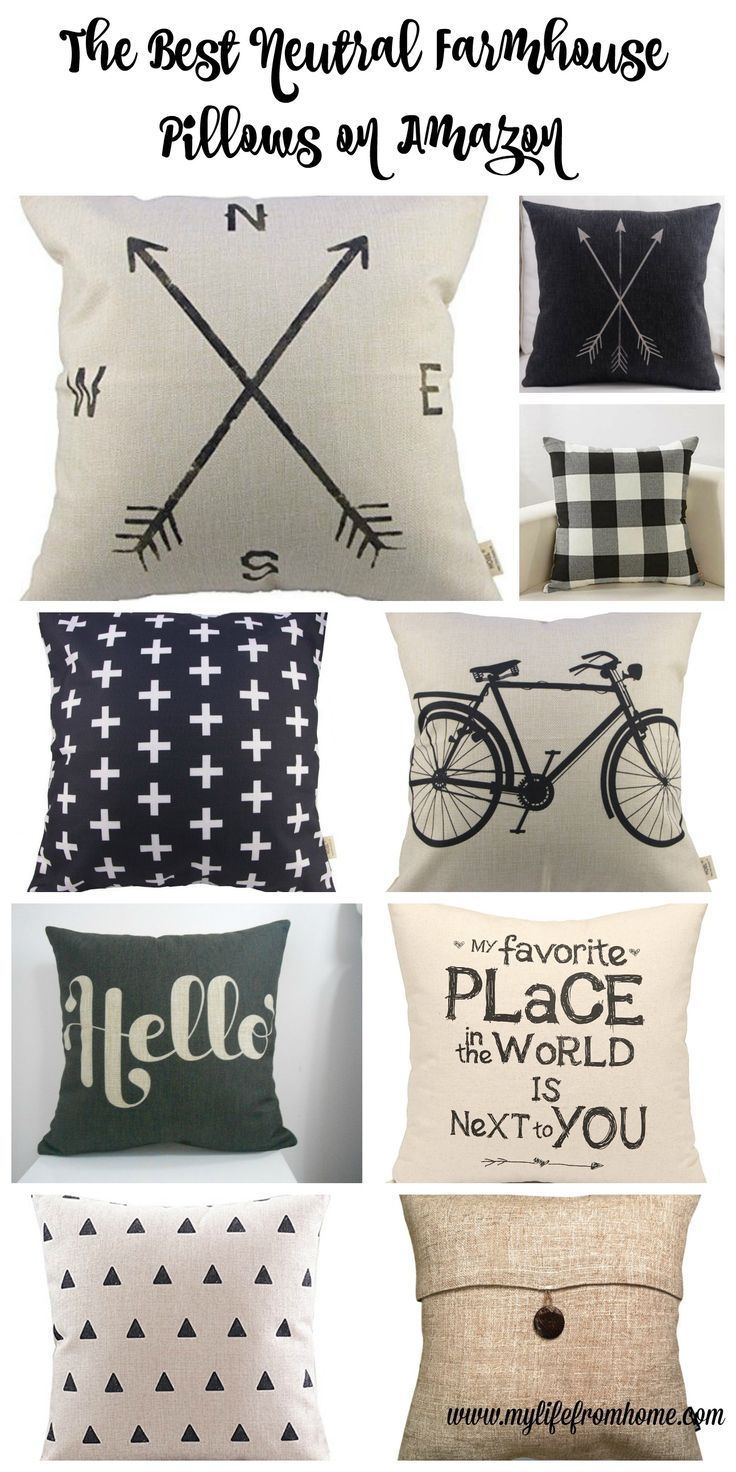 The best farmhouse style pillows from Amazon- all under $15- decor- farmhouse style- throw pillows- diy- decorating- neutral- neutral decor