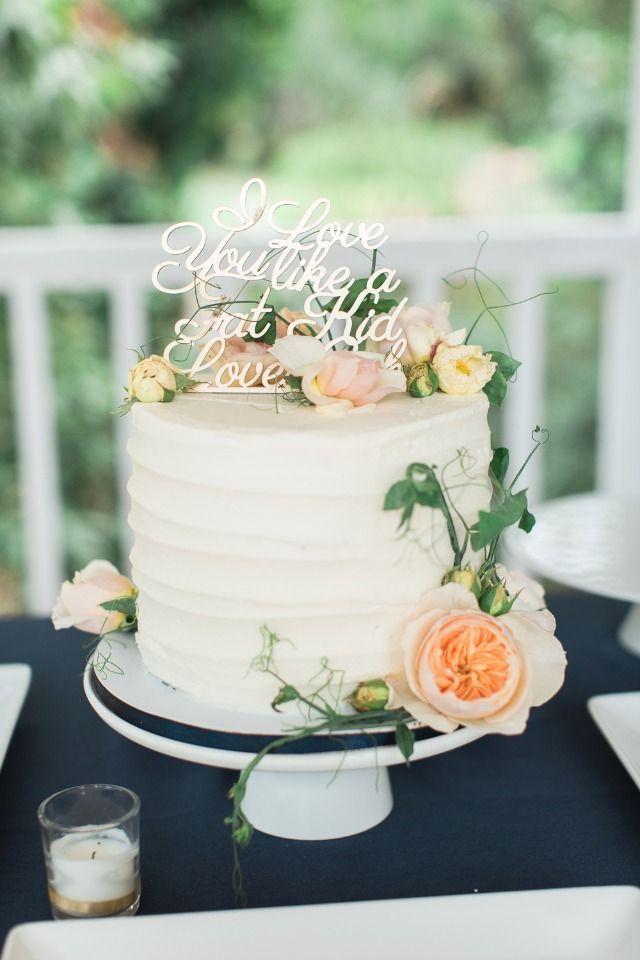 I Love You Like A Fat Kid Loves Cake Wedding Topper