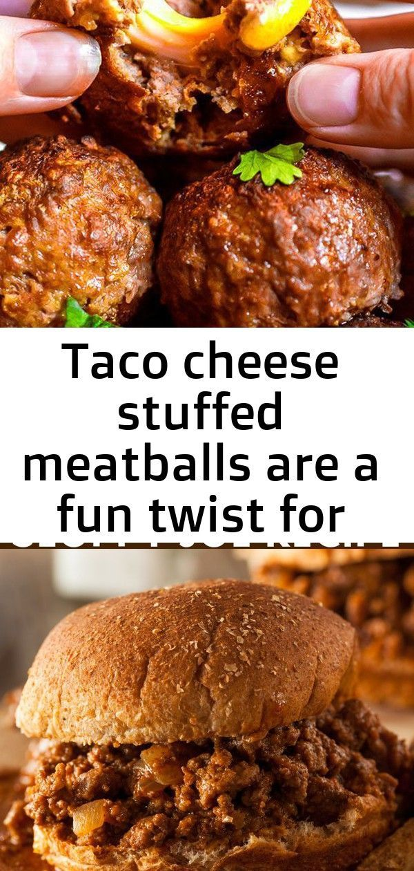 Taco Cheese Stuffed Meatballs are a fun twist for Taco Tuesdays! This easy meatball recipe is taken