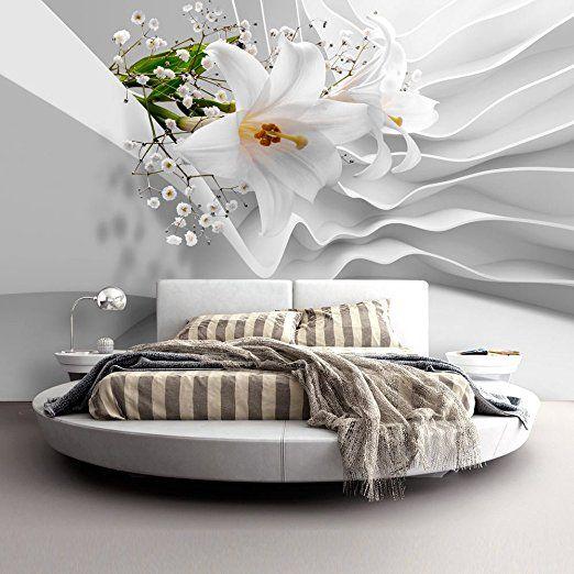 murando® Fototapete Blumen Lilien 350x245 cm - Vlies Tapete - fototapete für schlafzimmer