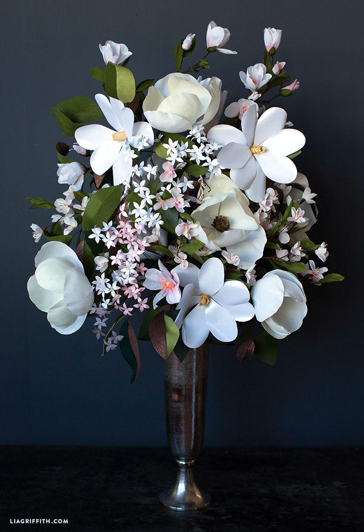 Giant Paper Flower Bouquets For Cricut Paper Flower Arrangements