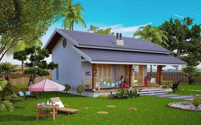 Conheça este lindo projeto de casa pronto para construir. Modelo ...
