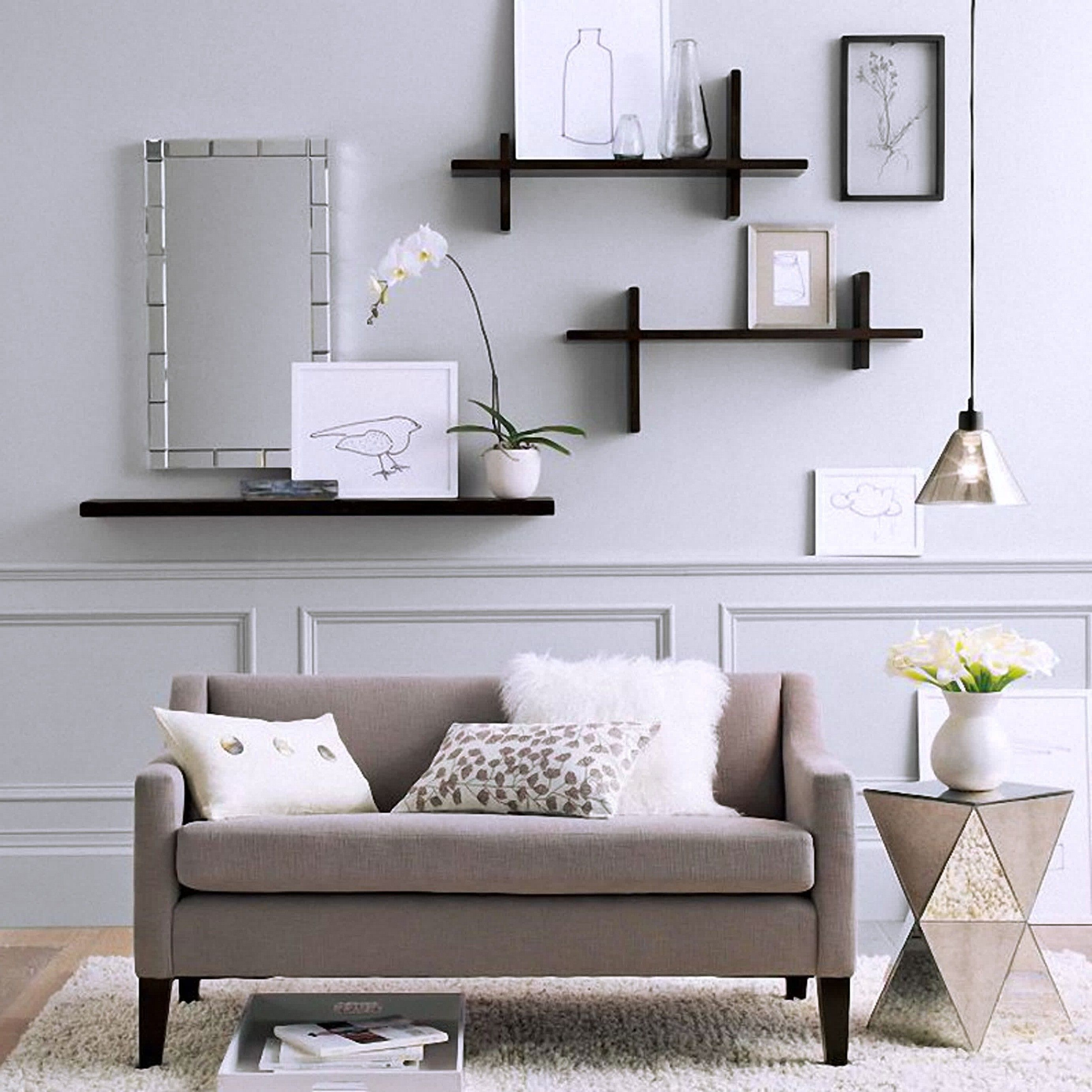 Shelving Ideas For Living Room Walls Wall Shelves Living Room