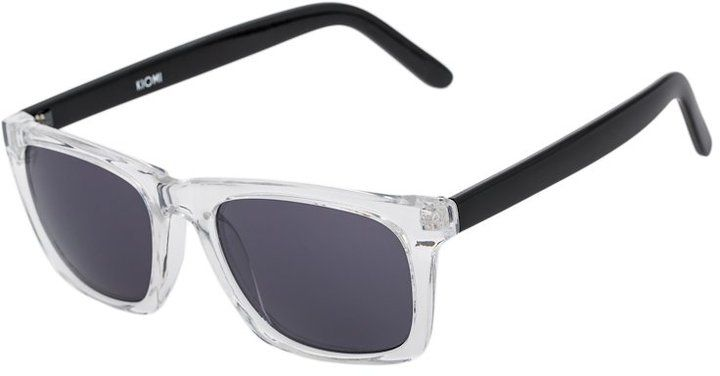 c76541f0a5 KIOMI Sunglasses clear frame black temple smoke