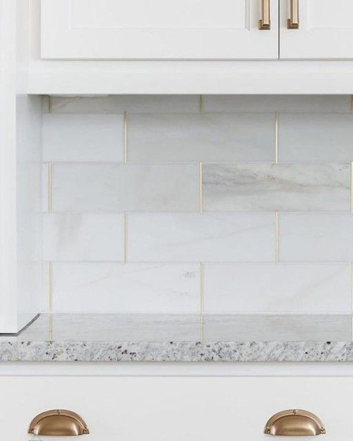 Royal Satin White Marble Subway Tile 4 X 12 In The