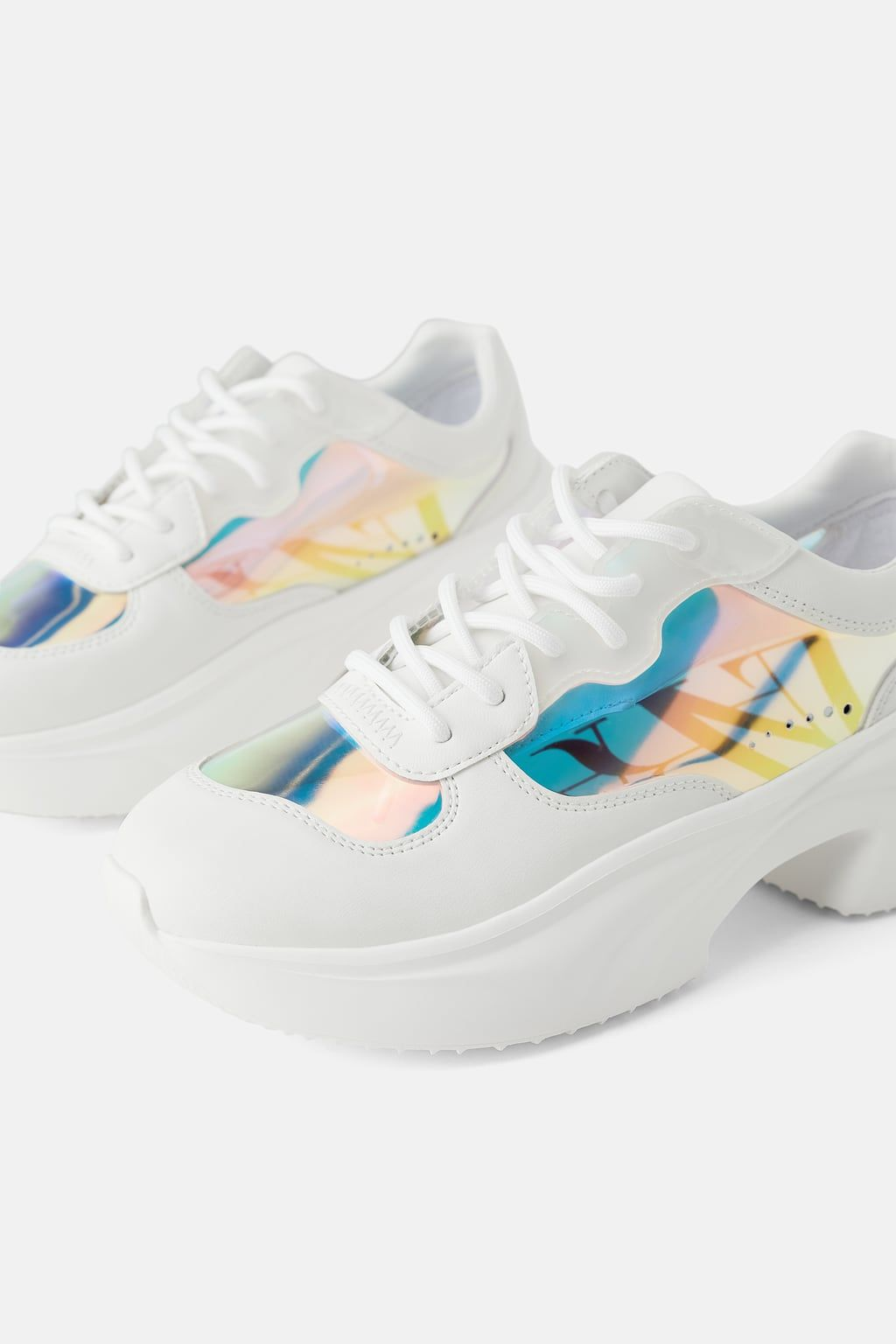 Iridescent Sneakers View All Shoes Woman Zara Philippines Zara Sneakers Sneakers Womens Shoes Sneakers
