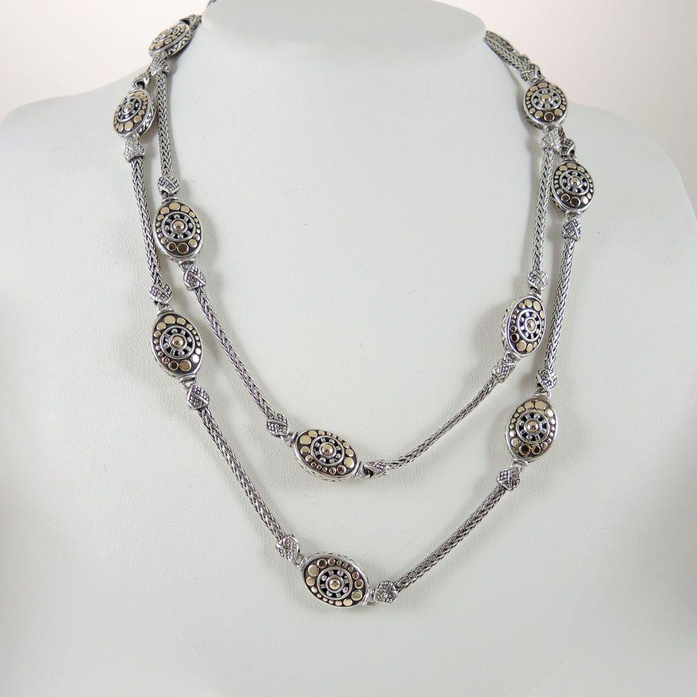 John Hardy Jaisalmer 18K Gold & Sterling Silver Sautoir Necklace o6qa9HQoZ