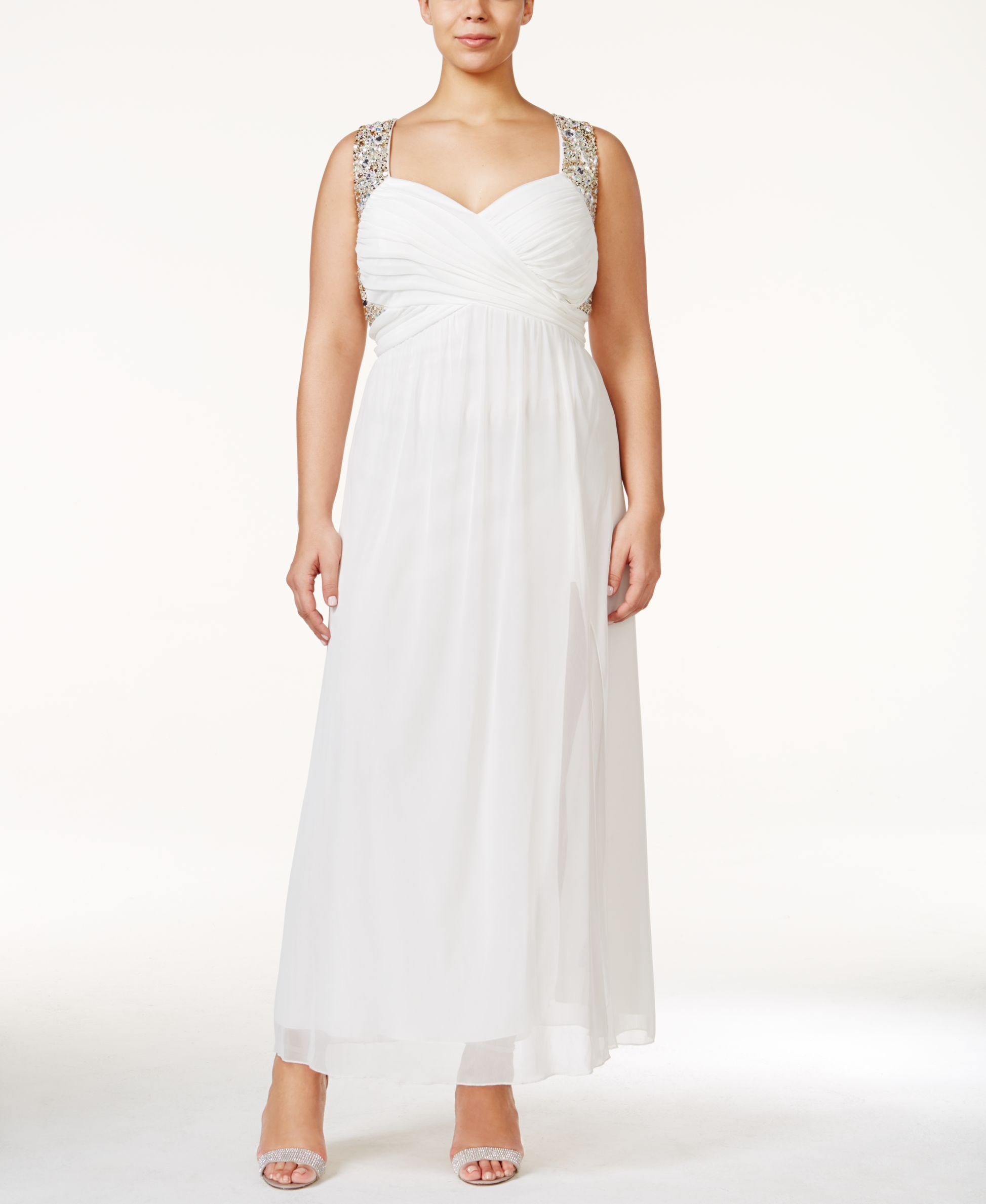Trixxi plus size embellished sweetheart formal dress products