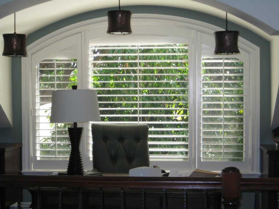 Enhance the look of any space with custom poly shutters