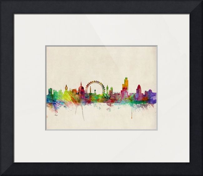 """""""London Skyline"""" by Michael Tompsett, Castellon // Watercolor art print of the skyline of the City of London, England // Imagekind.com -- Buy stunning fine art prints, framed prints and canvas prints directly from independent working artists and photographers."""