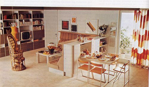 1970s brown orange mod interior design living room home for 1970s living room interior design
