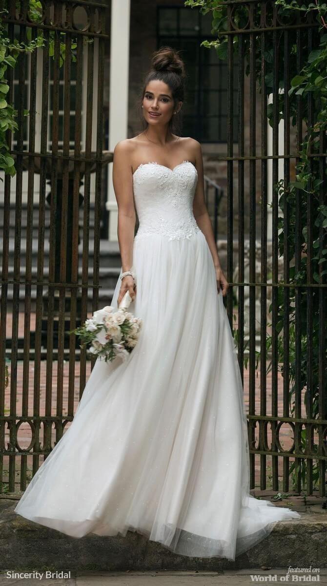Tulle skirt wedding dress  Sincerity Bridal Fall  Wedding Dresses  Tulle skirts Gowns and