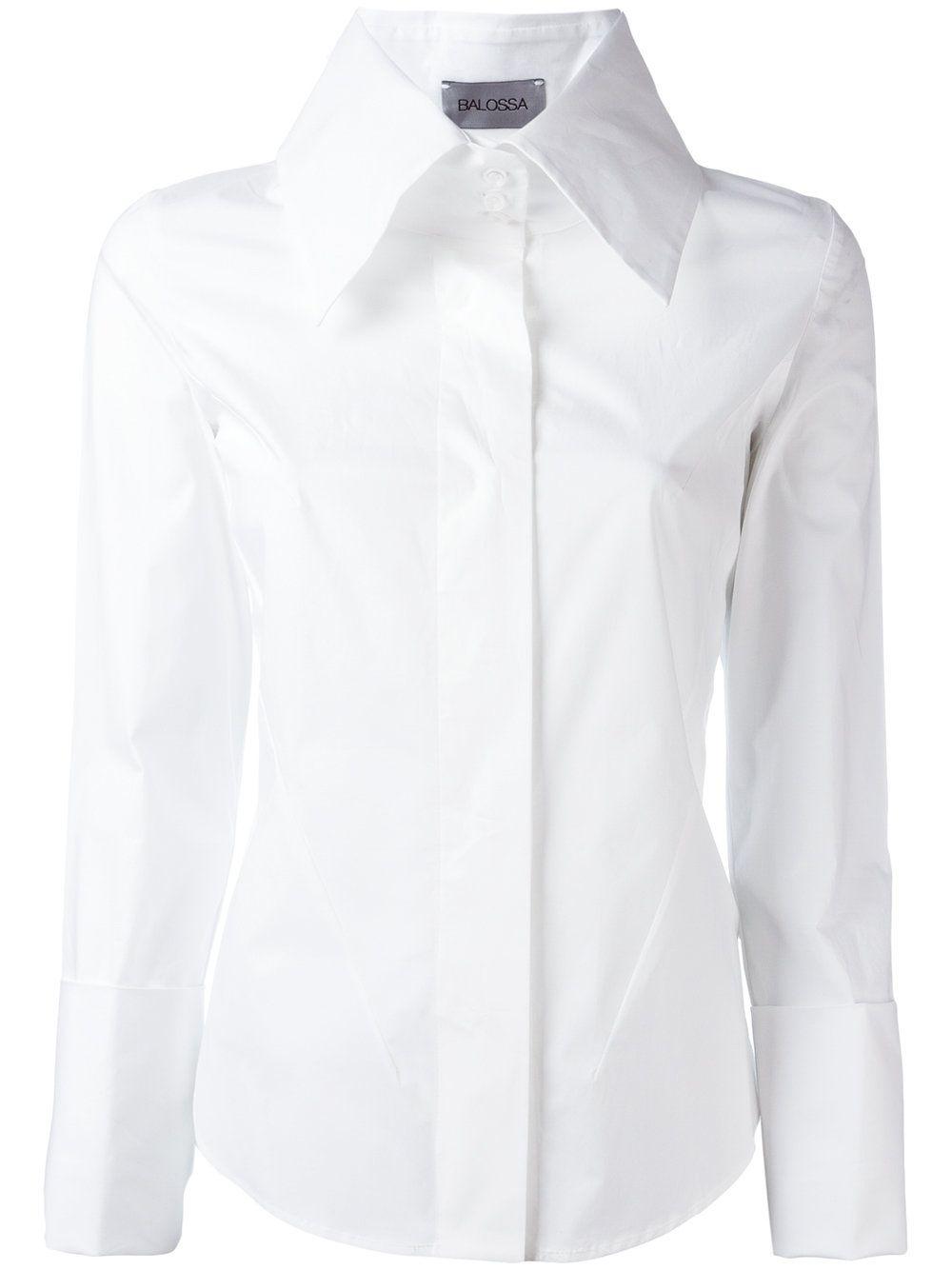 Balossa White Shirt Wide Collar Shirt White Collared Shirt Womens Dress Shirts For Women Collar Shirts Women [ 1334 x 1000 Pixel ]