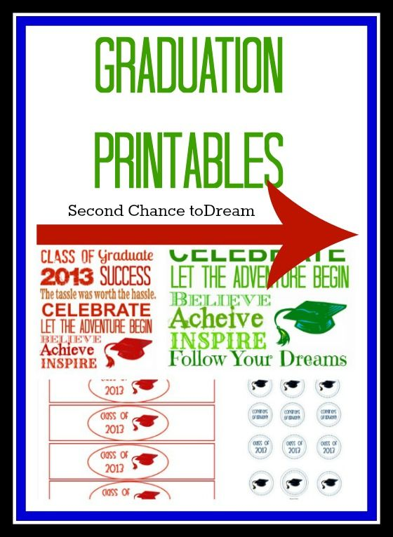 Free Graduation Printables in 3 Colors from our friends @Barb Peterson Camp -Second Chance to Dream Print these on OnlineLabels.com full sheet adhesive labels.
