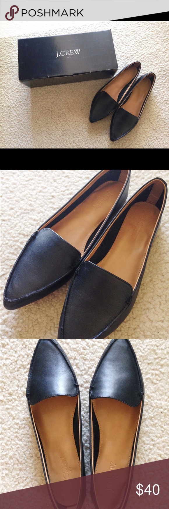 904f309f156 J.Crew Edie Leather Loafers Size 8 These are such classy loafers! I ...