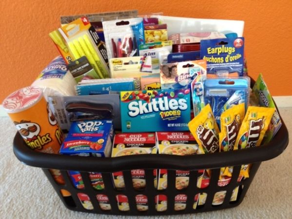 college care gift baskets college survival kit for guys