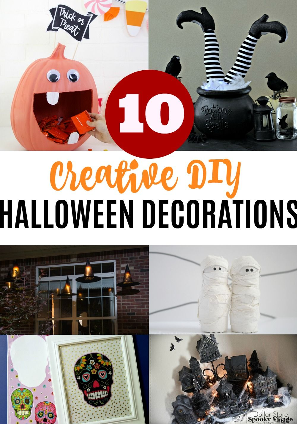 10 Creative DIY Halloween Decorations Pinterest DIY Halloween - halloween decorations diy