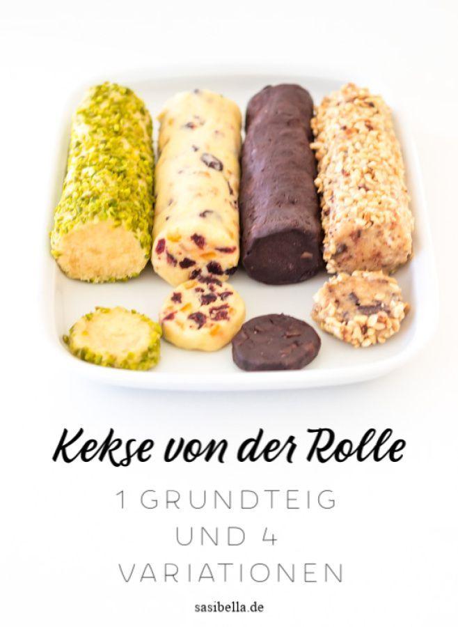 Kekse von der Rolle in vier weihnachtlichen Sorten - Sasibella