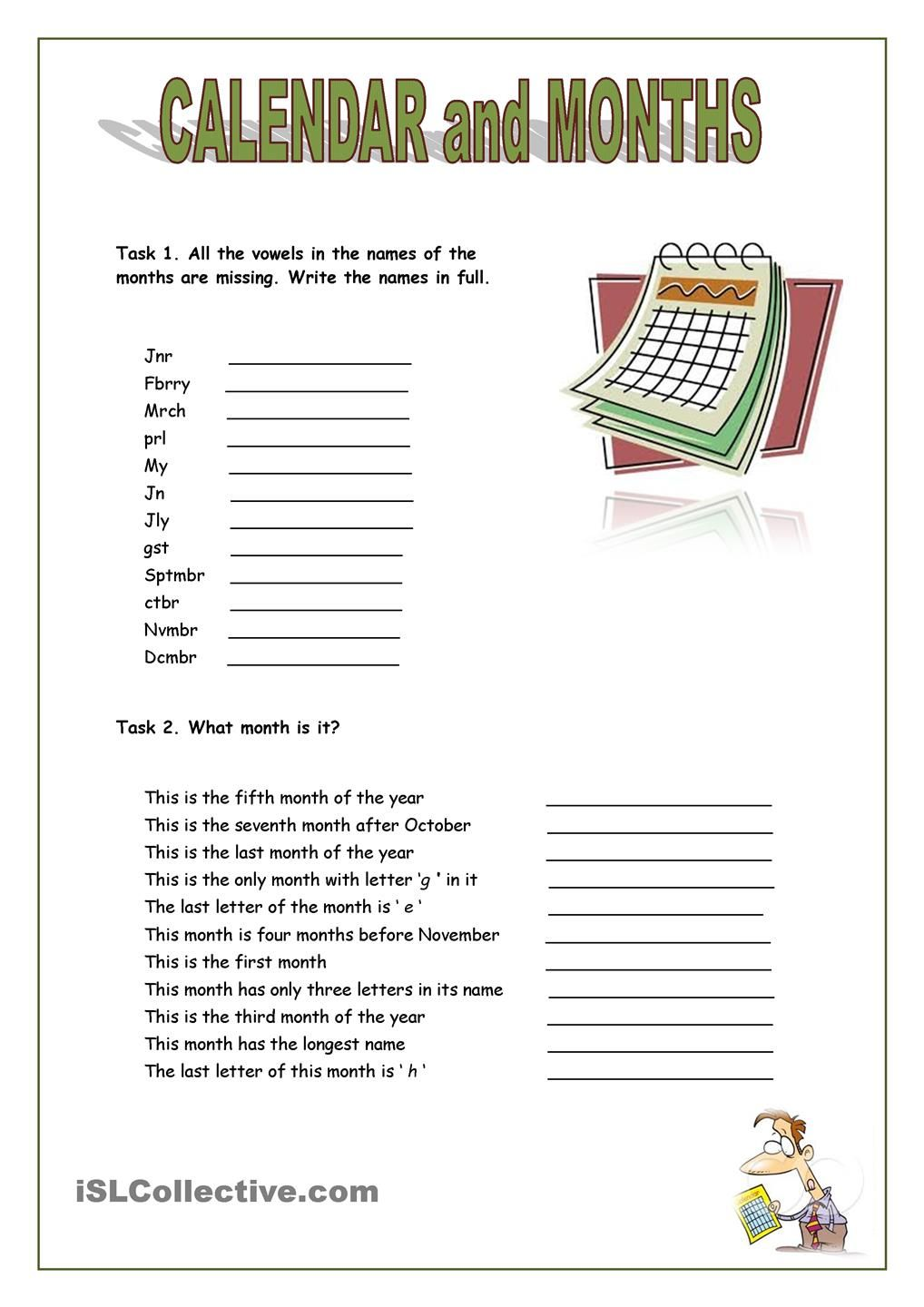 calendar and months | Teaching tools and ideas | Pinterest ...