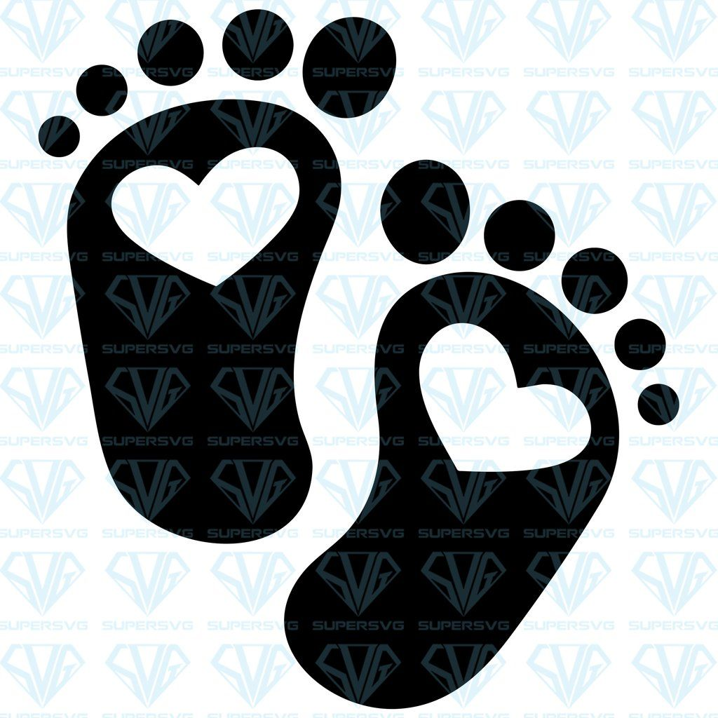 Baby Footprint Svg Files For Silhouette Files For Cricut Svg Dxf Eps Png Instant Download 2 Supersvg Baby Footprints Svg Funny Svg