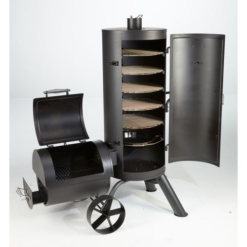 outdoor gourmet triton vertical charcoal smoker cooking grilling smoking pinterest. Black Bedroom Furniture Sets. Home Design Ideas