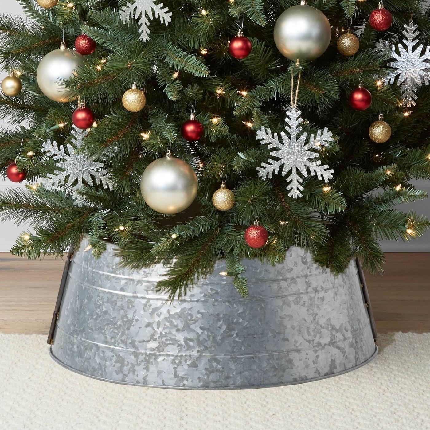 """25"""" Galvanized Christmas Tree Collar"""
