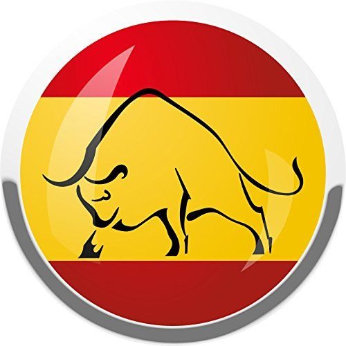 Spain National Flag Bull Home Decal Vinyl Sticker 12 X 12 See This Great Product This Is An Affiliate Link Vinyl Sticker National Flag Window Stickers