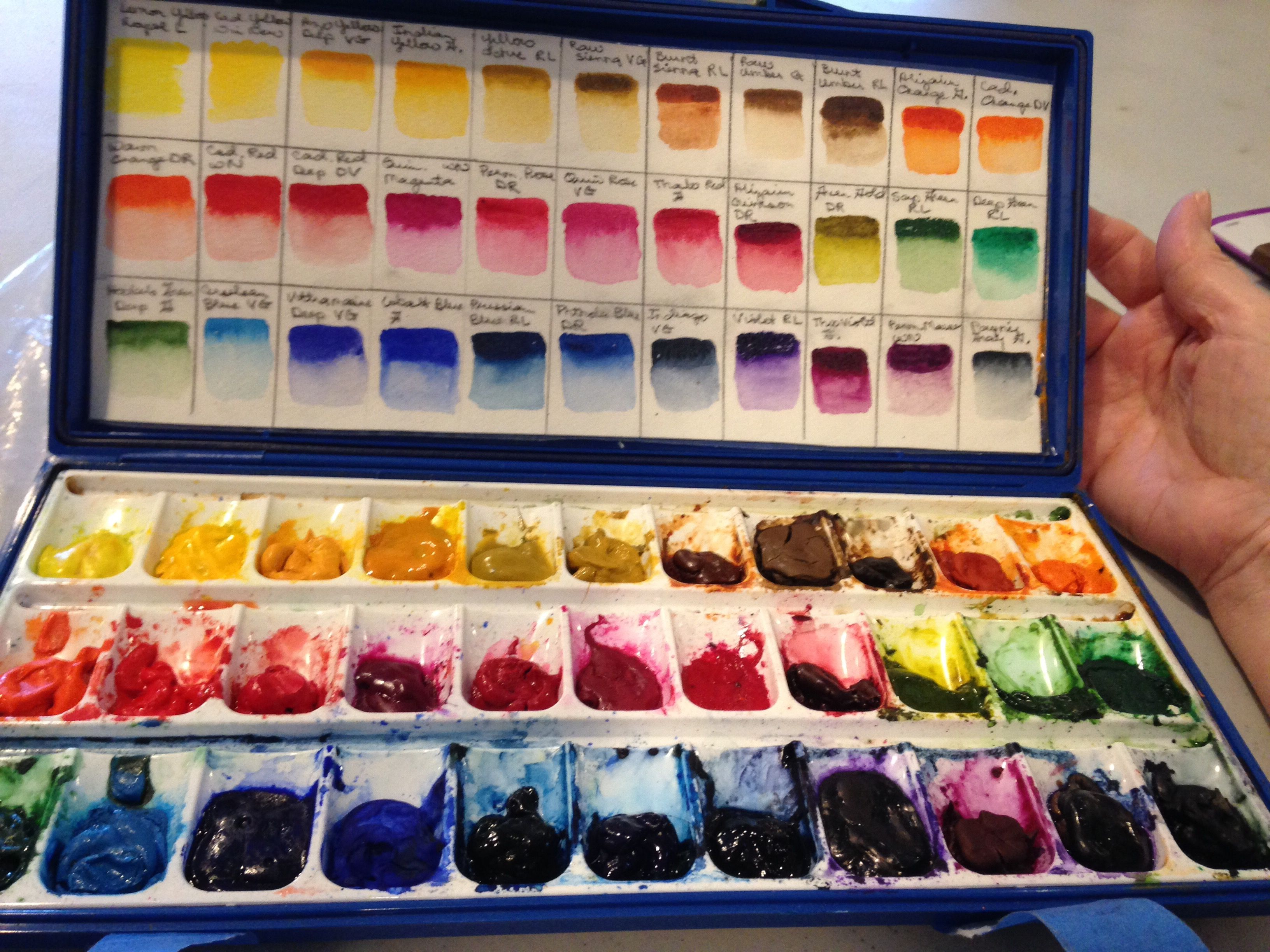 Watercolor Pallet Prep Watercolor Pallet Watercolor Supplies