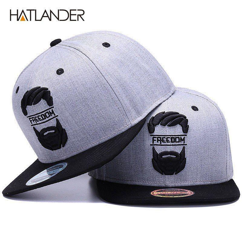809cf7f6293b9 HATLANDER Original Snapback Cap Men Flat Brim Bone Baseball Caps ...