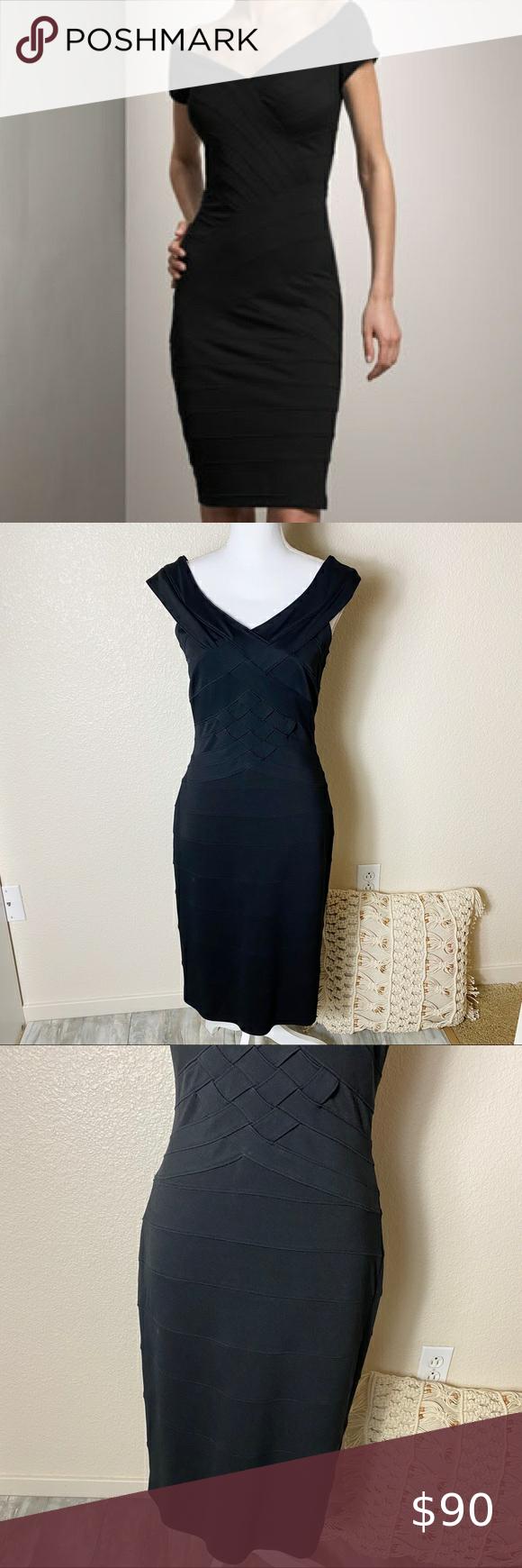 Tadashi Shoji Black Bandage Bodycon Dress In 2021 Bandage Dress Bodycon Black Bandage Bodycon Dress Cocktail Dress Lace [ 1740 x 580 Pixel ]