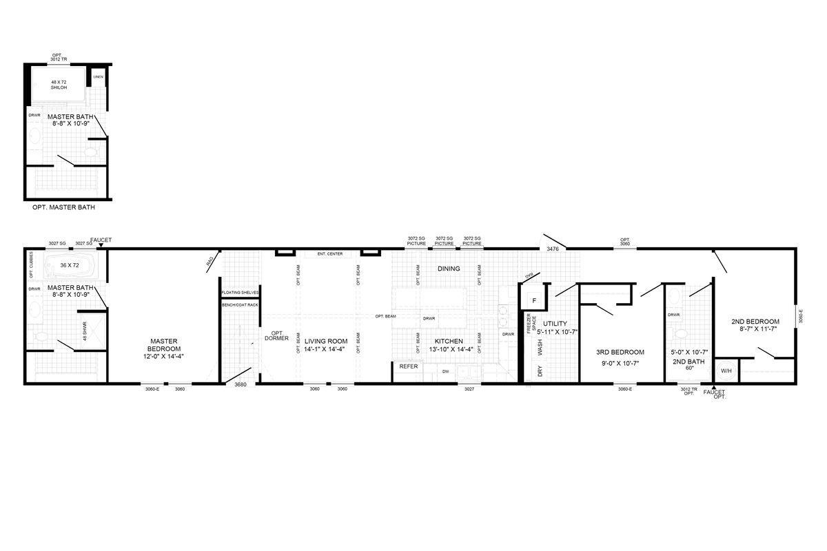 The Bobby Jo In 2020 Mobile Home Floor Plans Floor Plans Trailer Living