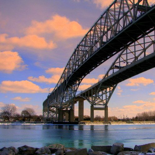 Photo Of Blue Water Bridge Port Huron Michigan Travel Michigan Usa Multicityworldtravel Com We Cover The World O Michigan Travel Service Trip Michigan Usa