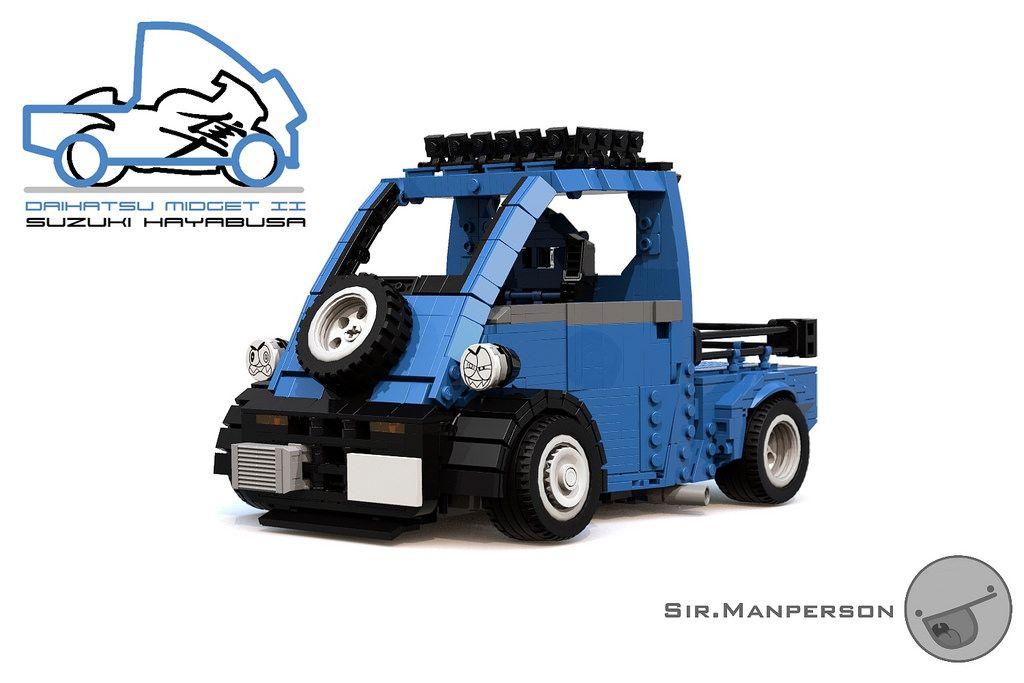 Hayabusa Daihatsu Midget Ii 15 Wide Lego Carros