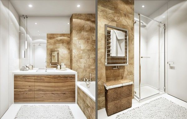2 luxury apartment designs for young couples - Bathroom Designs For Couples
