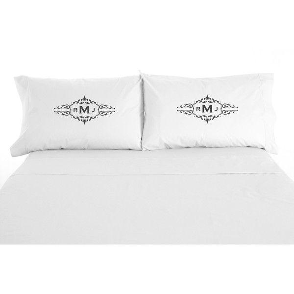Monogram Pillow Sham Personalized Gift Linen Pillowcase Personalized Monogrammed Pillowcase Custom Pillow case Customized Euro Shams