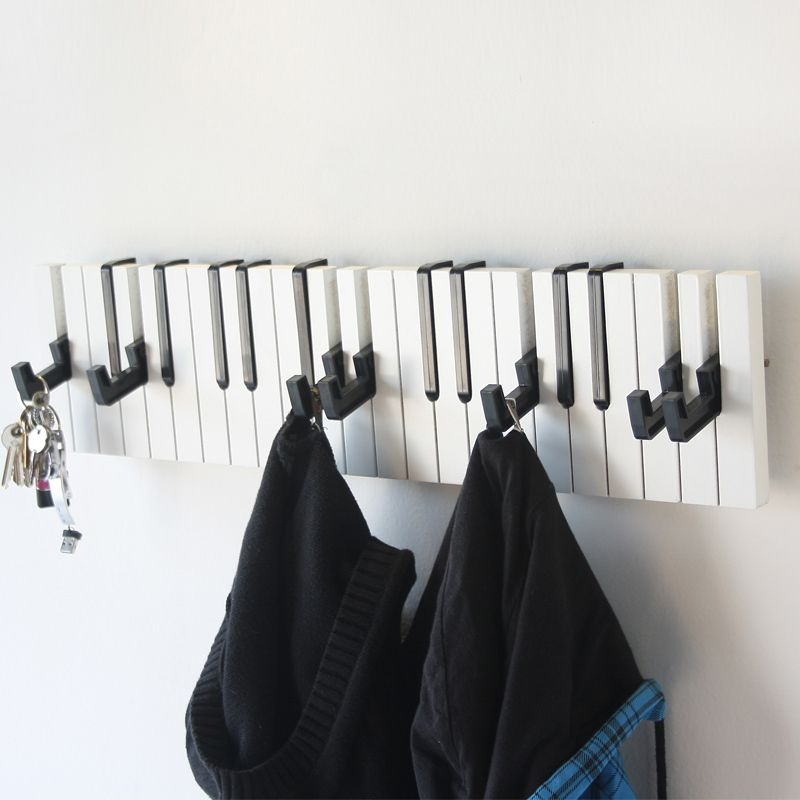 Wall Hangers For Clothes Pleasing Enchanting Inspirations Creative Minimalist Black And White Piano Design Decoration
