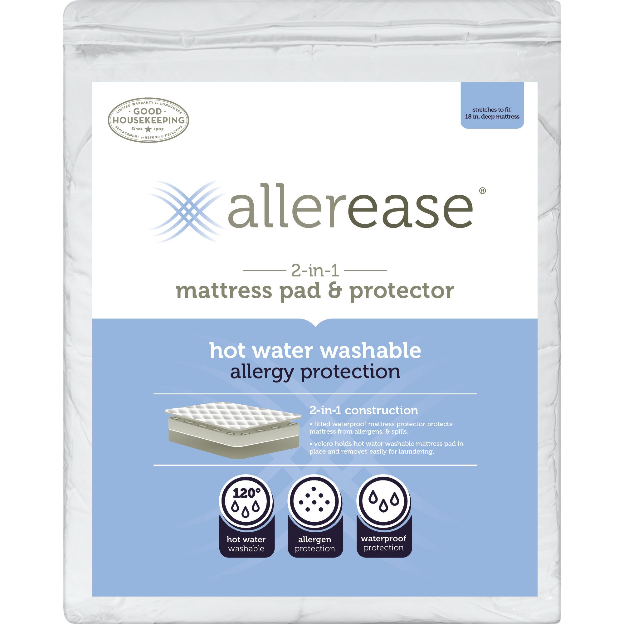 Allerease Ultimate Comfort Allergy Amp Bedbug Protection