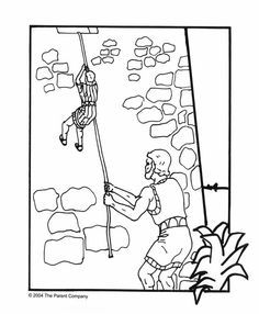 Rahab Bible Lesson Google Search Sunday School Coloring Pages