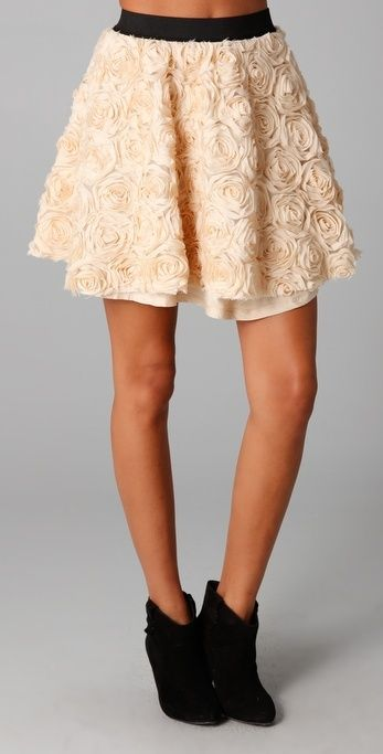 Free People Rosey Holiday Skirt thestylecure.com