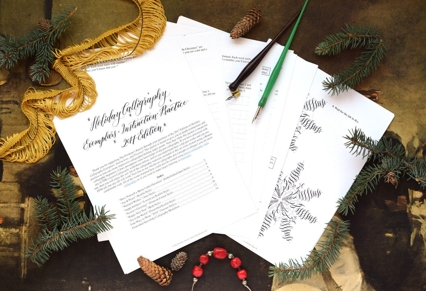 Edition Holiday Calligraphy Printable Exemplar