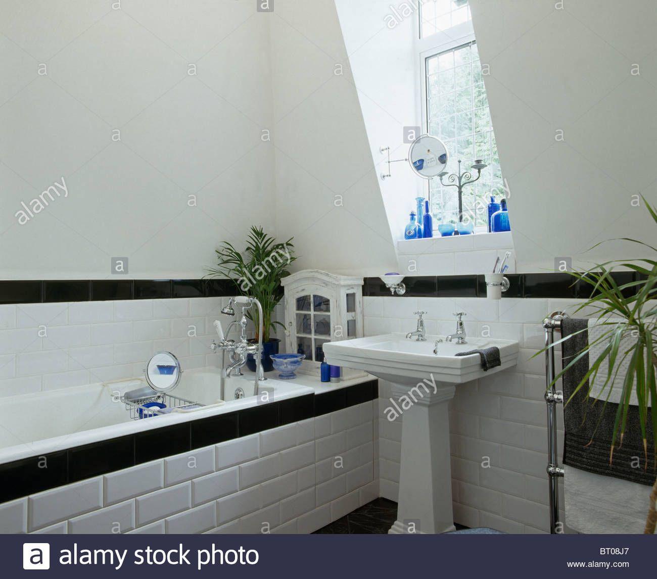 Image result for blue and white tiled bathroom Tiled