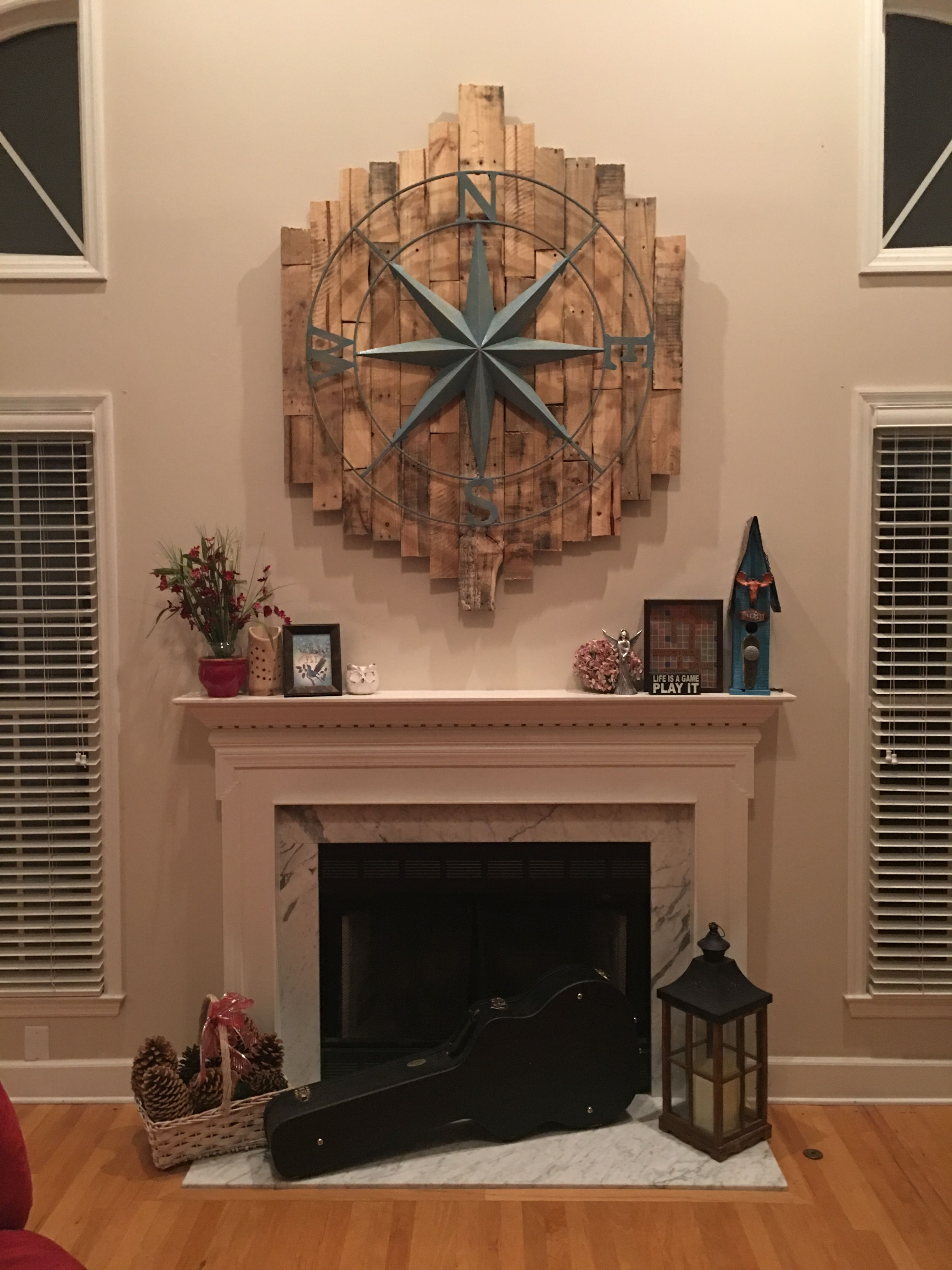 High Ceilings Mantel Fireplace Decorating Large Art Above