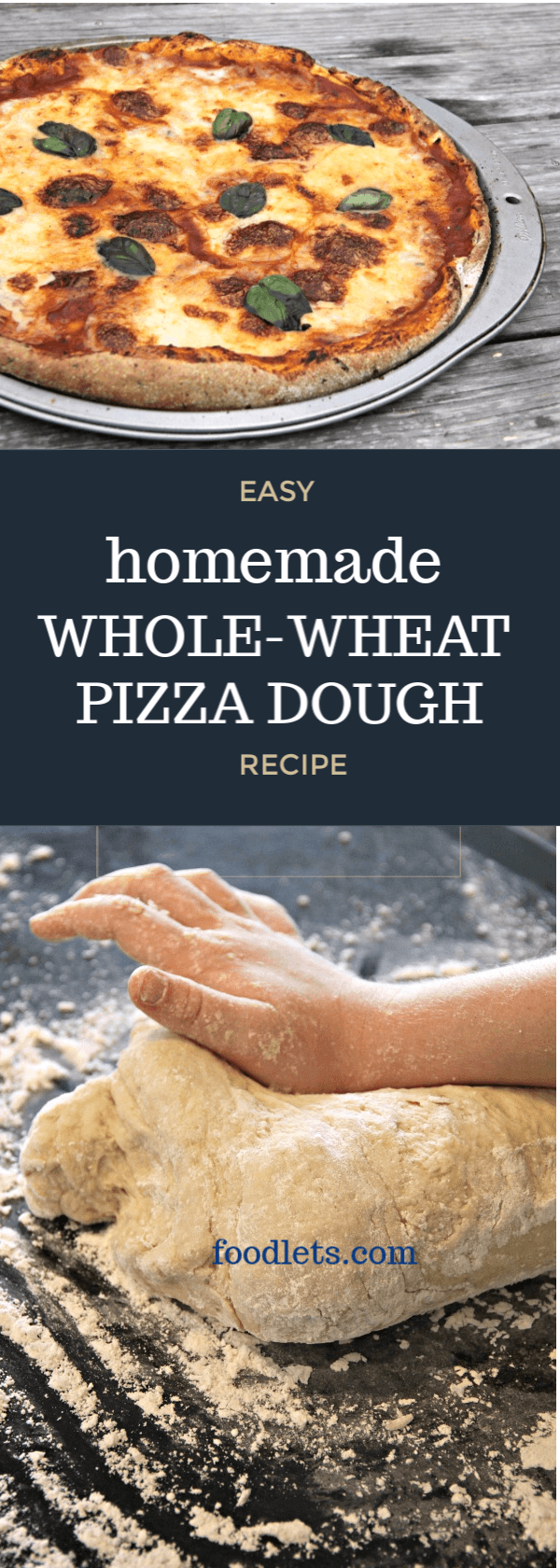 Easy Homemade Whole-Wheat Pizza Dough | Foodlets #pizzateig