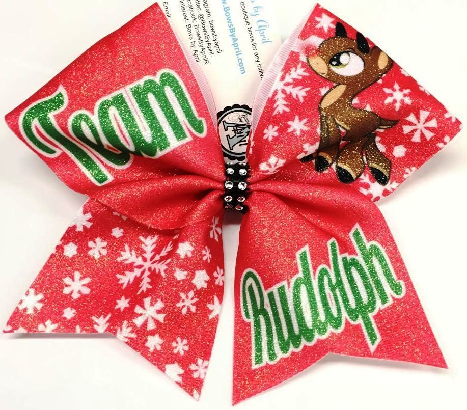 bows by april team rudolph sublimated christmas cheer bow 1500 http