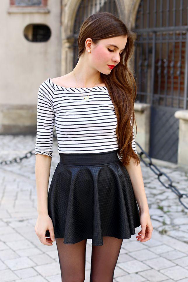 ...help! I have nothing to wear! - fashion blog  Czarno-biała bluzka w  paski 9e7e8ce471a5d