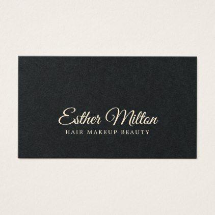 Minimalist Elegant Handwriting Fonts Beauty Business Card Zazzle Com Beauty Business Cards Beauty Business Business Card Minimalist