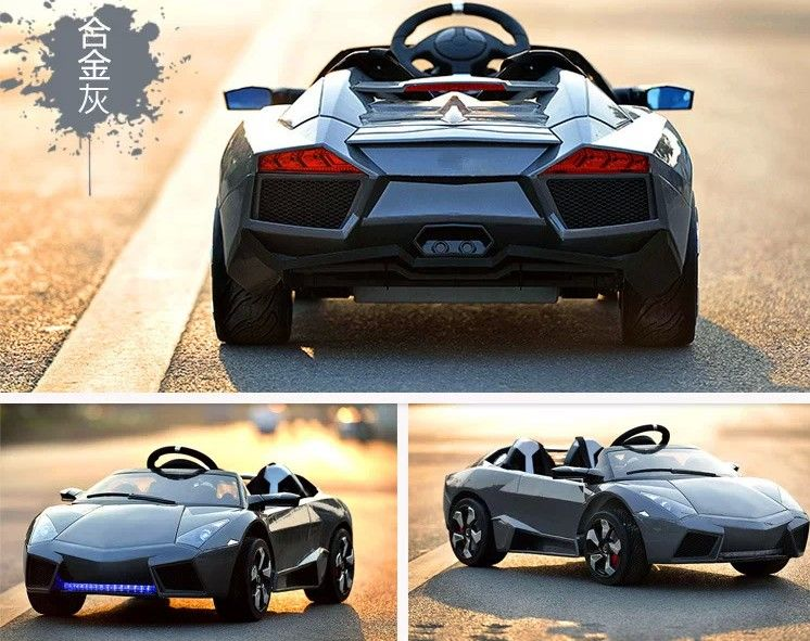 coche elctrico v para nios lamborghini style v g plazas gris pkclsgp